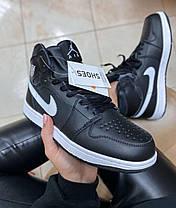 Женские кроссовки Nike Air Jordan 1 Retro Black Fur, фото 2