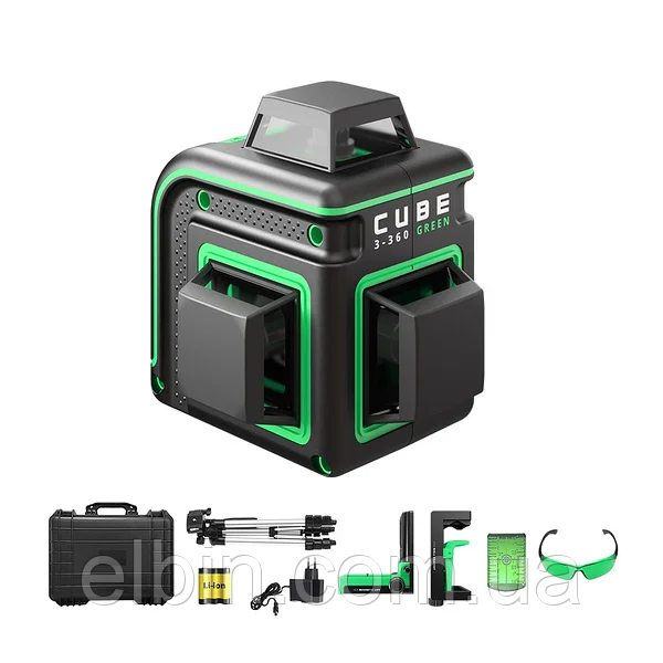 Лазерный уровень ADA Cube 3-360 Green Ultimate Edition