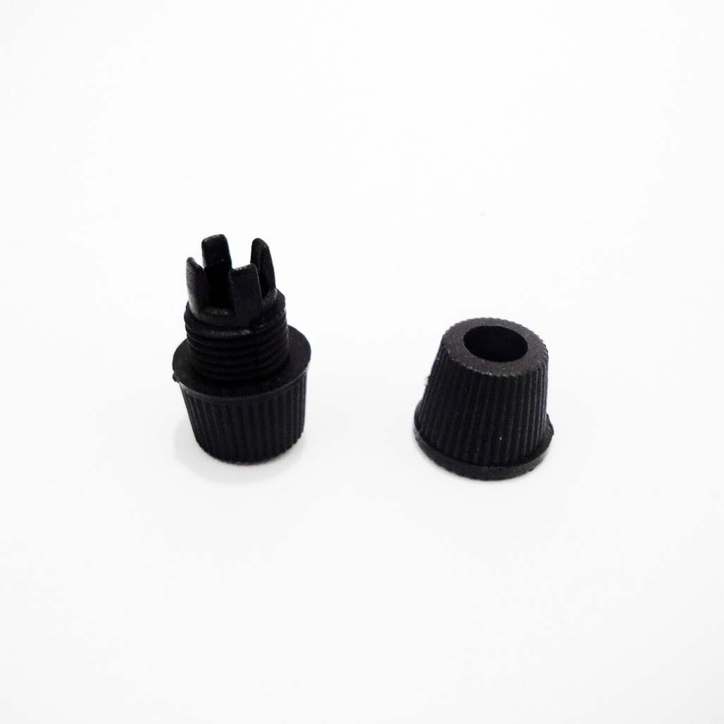 Пластиковий зажим з закруткою, для фіксації кабелю, чорний