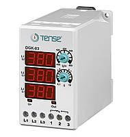 Реле контроля напряжения 3-х фазные микропроцессорное электронное  TENSE