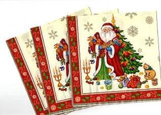 Декоративная двухслойная бумажная салфетка, Новый год