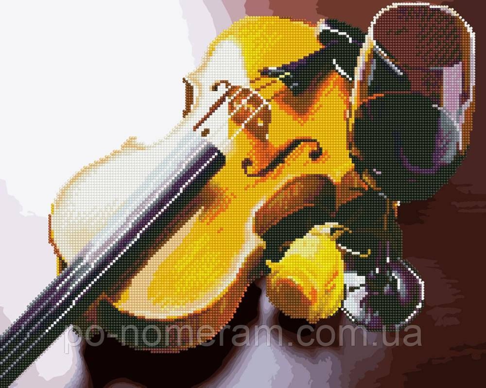 Алмазная картина BrushMe Скрипка и вино (BGZS1121) 40 х 50 см