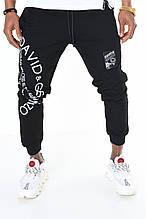Мужские спортивные штаны David Gerenzo на манжетах трикотажные с надписями