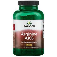 Swanson Arginine AKG 1000 mg, Аргінін (90 капс.)
