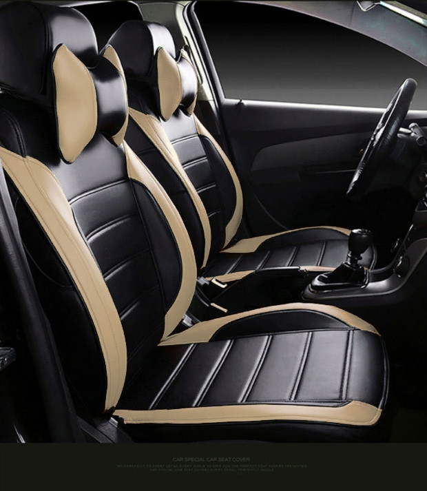 Чехлы на сиденья Митсубиси Аутлендер ХЛ (Mitsubishi Outlander XL) модельные MAX-L из экокожи Черно-бежевы