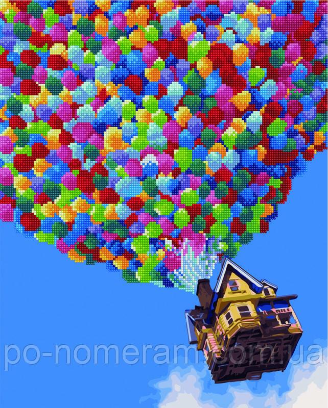 Алмазная картина Rainbow Art Полет на воздушных шарах (BGZS1040) 40 х 50 см
