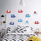 """Наклейка на стену виниловая """"набор слоники 2"""" в детскую для ребенка наклейки на стену в детскую, фото 2"""