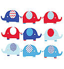 """Наклейка на стену виниловая """"набор слоники 2"""" в детскую для ребенка наклейки на стену в детскую, фото 3"""