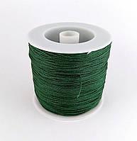 Шнур нейлоновый,  темно-зеленый, 1мм
