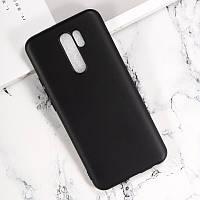 Чехол Fiji Line для Xiaomi Redmi 9 силикон бампер черный