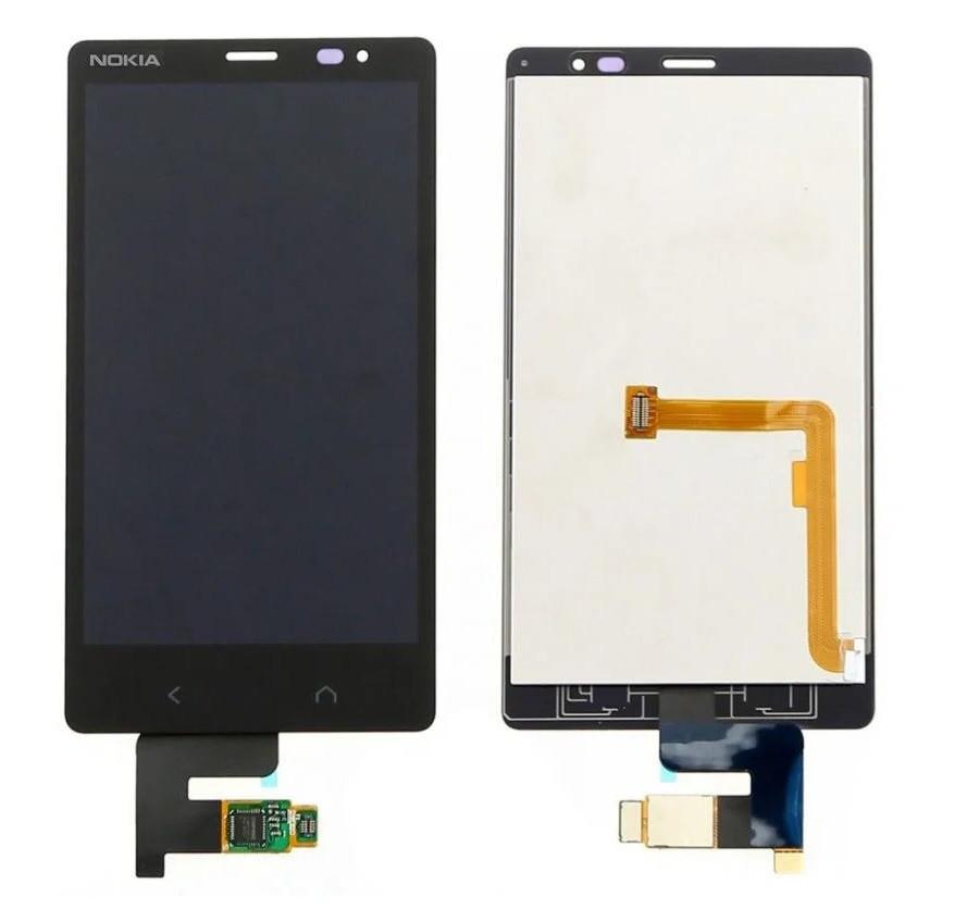 Дисплей для Nokia X2 Dual Sim c сенсорним склом (Чорний) Оригінал Китай