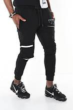 Мужские спортивные штаны David Gerenzo на манжетах трикотажные с карманом на колене