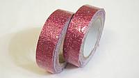 Скотч декоративный блестящий розовый, фото 1