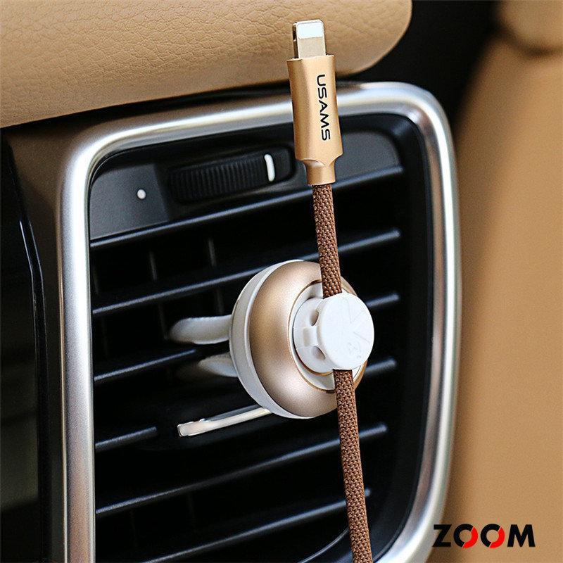 Держатель кабеля Usams US-ZB019 Car Fragrance Gold