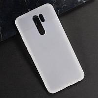 Чехол Fiji Line для Xiaomi Redmi 9 силикон бампер прозрачный белый