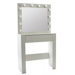 Туалетный столик с подсветкой Bonro- B070 белый