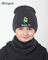№022 Детская шапка Among Us. р.48-54 (2-7 лет)