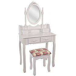 Туалетний столик Bonro - В-011 (червона табуретка)