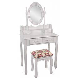 Туалетний столик Bonro - В-011L (червона табуретка)