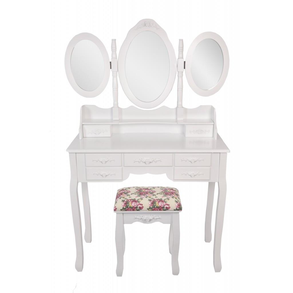 Столик косметический Bonro- В020 (красная табуретка)