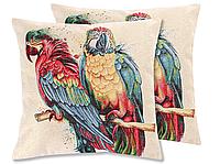 "Наволочка гобеленовая, двухсторонняя ""Parrot"", размер 47х47см"