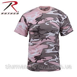 Футболка мужская   камуфляж -  Subduet Pink Camo  T-Shirts  поликотон 60/40  ROTCHO США