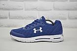 Кросівки чоловічі в стилі Under Armour сині на білій підошві сітка, фото 5