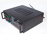 Усилитель звука для неактивных колонок вместе с эквалайзером  c караоке и Bluetooth UKC AMP AV-326BT 2*120W, фото 4