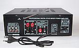 Усилитель звука для неактивных колонок вместе с эквалайзером  c караоке и Bluetooth UKC AMP AV-326BT 2*120W, фото 2
