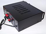 Усилитель звука для неактивных колонок вместе с эквалайзером  c караоке и Bluetooth UKC AMP AV-326BT 2*120W, фото 3