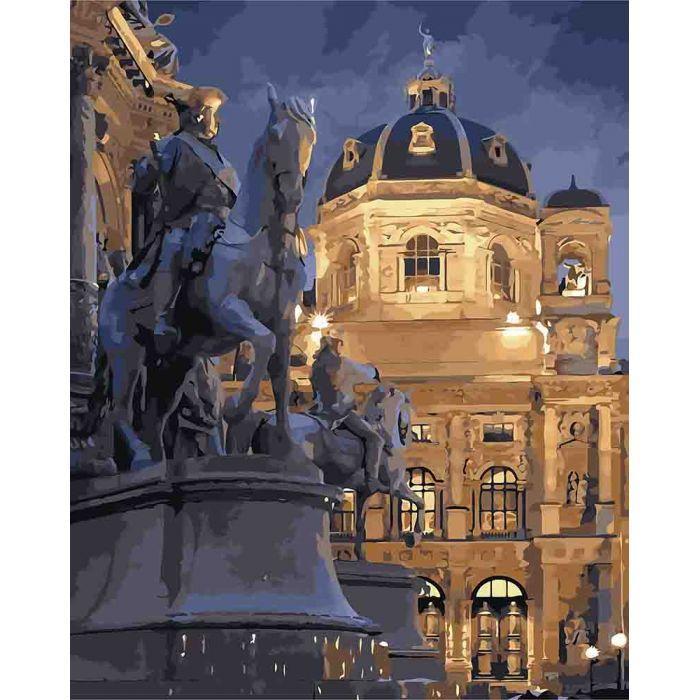 Картина по номерам КНО3538 Відень вночі, 40x50 см., Идейка