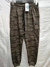 Спортивные штаны мужские на манжетах BLL трикотажные камуфляжные