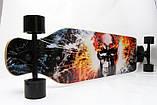 """ЛонгБорд Freeriding """"Fire Skull"""" лонгборд спортмастер профессиональный деревянный скейтборд скейт лонгборд, фото 2"""