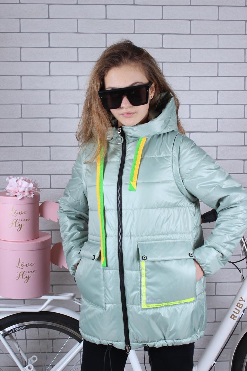 Подростковая куртка для девочки р.134-164 опт