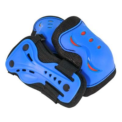 Детский комплект спортивной защиты для колен, локтей и рук SFR синий