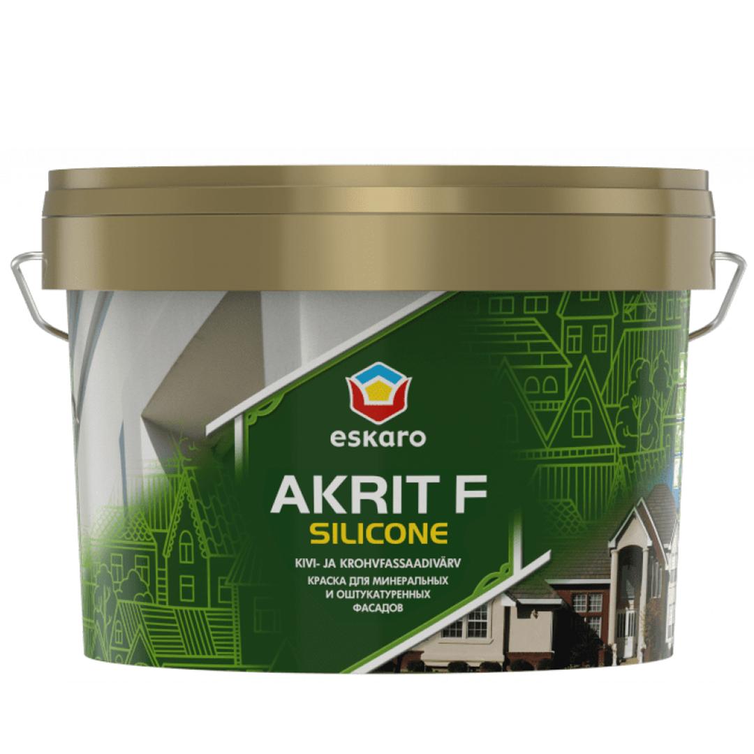 Силиконовая краска Eskaro Akrit F Silicone TR 2.7л под колеровку (Акрит Ф Силикон Эскаро)