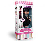 Детская кукла пупс говорящая с игрушечной коляской для прогулок