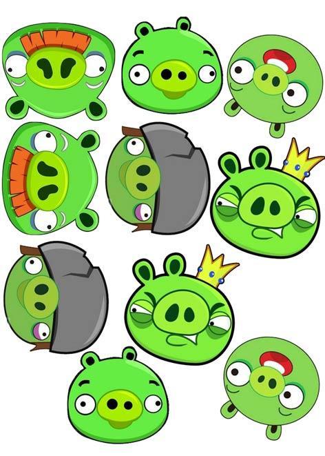 """Вафельна картинка  """"Angry Birds"""""""