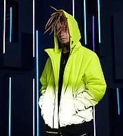 Куртка демісезонна чоловіча Пушка Огонь Yard жовто-рефлективна