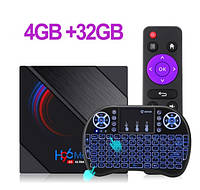 Смарт ТВ приставка H96 Max 4gb/32gb 6K Ultra HD SmartTV Андроид Android TV box + клавиатура