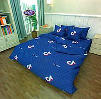 Комплект постельного белья Сатин №с488 Евро размер 200х220 см., фото 1