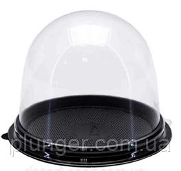 Коробочка-купол для кондитерських виробів розміром 9х8 см (ціна за 1 шт) Чорний
