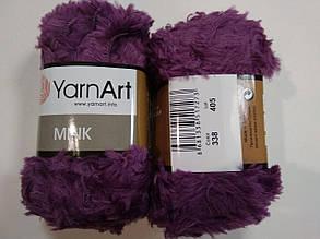 Пряжа Минк (Mink) YarnArt, цвет фиолетовый 338