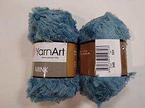 Пряжа Минк (Mink) YarnArt, цвет бирюзовый 349