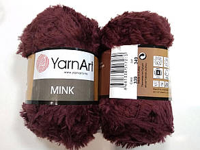 Пряжа Минк (Mink) YarnArt, цвет бордовый 339