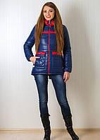 Стильная зимняя куртка на синтипоне с удлиненно спинкой