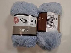 Пряжа Минк (Mink) YarnArt, цвет голубой 351