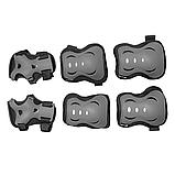 Захист дитячий комплект SPORTVIDA Наколінники налокітники рукавички EVA PU Чорний-сірий (SV-KY0007) S, фото 4