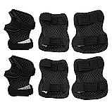 Захист дитячий комплект SPORTVIDA Наколінники налокітники рукавички EVA PU Чорний-сірий (SV-KY0007) S, фото 6