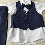 Детский нарядный костюм на мальчика 712. Размер 68 см, фото 2